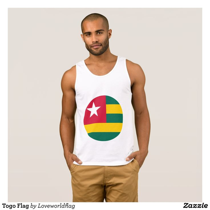Togo Flag Tank Top - Comfy Moisture-Wicking Sport Tank Tops By Talented Fashion & Graphic Designers - #tanktops #gym #exercise #workout #mensfashion #apparel #shopping #bargain #sale #outfit #stylish #cool #graphicdesign #trendy #fashion #design #fashiondesign #designer #fashiondesigner #style