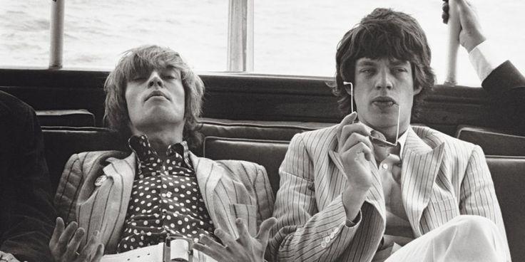 Brian Jones and Mick Jagger - by Linda Eastman (McCartney)