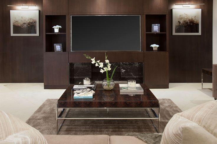 Living Room Bespoke Panelling and Media Unit | JHR Interiors