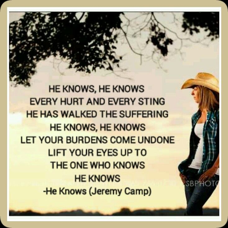 He knows the truth without all the twisted half-truths...He knows my heart...He knows!! Amen Amen