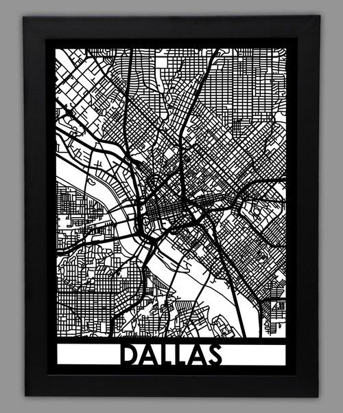 Look at this Dallas Map Framed Wall Art on #zulily today!