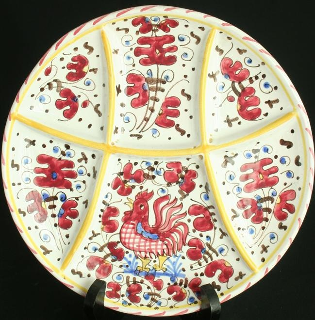 Vintage Italian Deruta Majolica Plate Red Rooster  sc 1 st  Pinterest & 46 best Italian Ceramics images on Pinterest | Porcelain Cooking ...