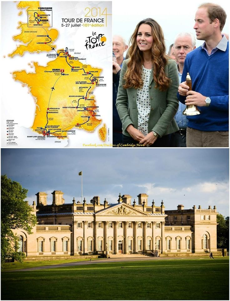 A new engagement for the Duke  Duchess of Cambridge! Sunday's Daily Express reports William and Kate will attend the ceremonial start of the Le Tour De France at Harewood House in Yorkshire (pictured) on July 5th. 2014.