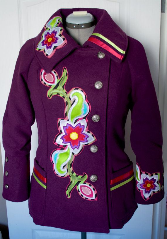 Native Style Applique Jacket by FeralFawn on Etsy