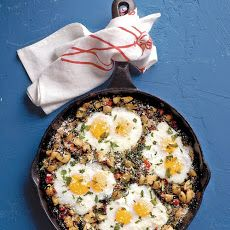 Potato Hash with Spinach and Eggs Recipe
