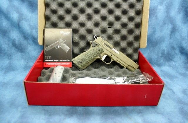 SIG SAUER 1911 SCORPION 45 ACP CPO 45ACP : Semi Auto Pistols at GunBroker.com