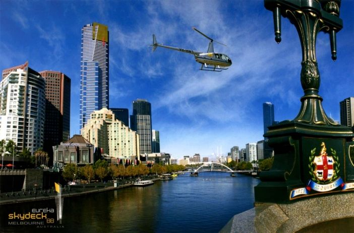 Postcard of Eureka Tower, one of our latest landmarks.