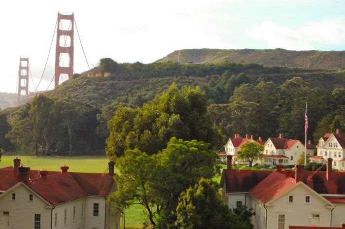 Explore the grounds of Cavallo Point, a former U.S. Army post turned luxury hotel. Cavallo Point dates from 1775 and the early settlement of the area.