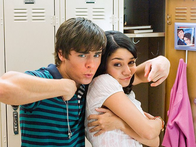 Hollywood Couples Who Collaborated, Then Called It Quits ZAC EFRON & VANESSA HUDGENS: 2 YEARS, 2 MONTHS  It was young love for Zac Efron and Vanessa Hudgens who met while filming 2006's made-for-TV Disney film High School Musical. But these high school sweethearts didn't make it much past graduation: After the trilogy's final installment arrived in theaters in October 2008 news of their split broke in December 2010.