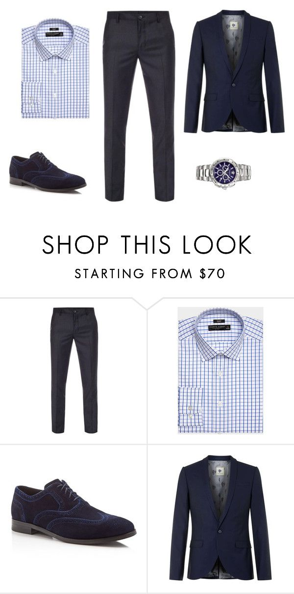 """Navy chic"" by ustine on Polyvore featuring Paul Smith, Cole Haan, Topman, Versace, men's fashion i menswear"