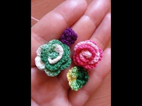 Tutorial: rosa all'uncinetto facile facile - YouTube