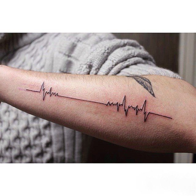 25+ Unique Heartbeat Tattoos Ideas On Pinterest