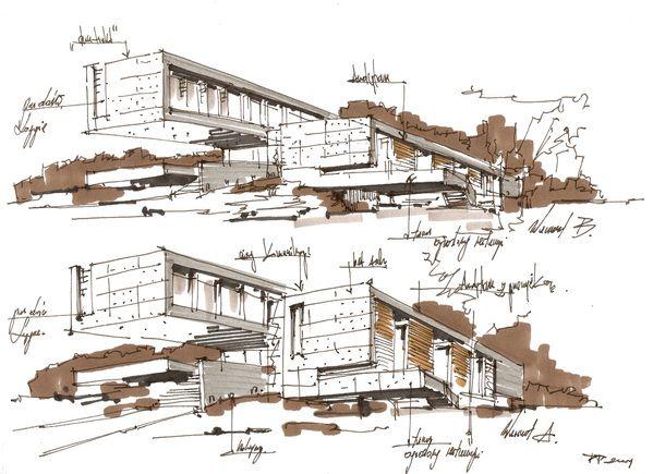 HOTEL IN GDANSK By Pawel Podwojewski, Via Behance · Gdansk PolandSketch  ArchitectureArchitectural ...
