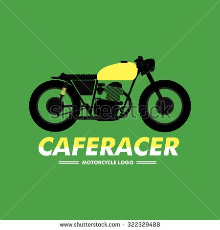 Cafe Racer Motorcycle Logo You can change your text