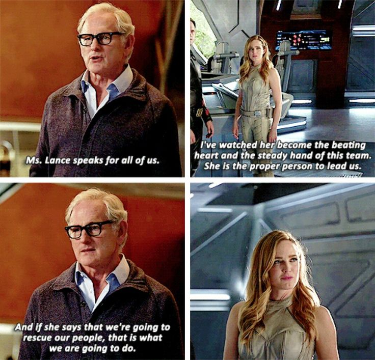 """""""Ms. Lance speaks for all of us. And if she says that we're going to rescue our people, that is what we are going to do"""" - Stein and Sara #LegendsOfTomorrow"""