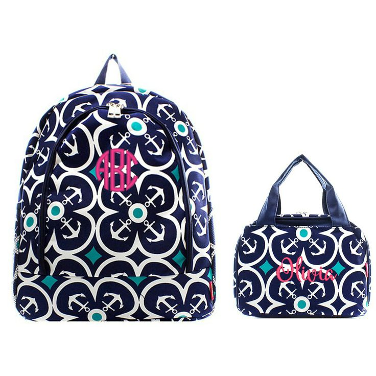 Matching Bookbag & Lunchbox Set including personalized embroidered name or monogram. Full Size Backpack: A full size backpack your grade school, tween or high schooler will love for back-to-school. Cu