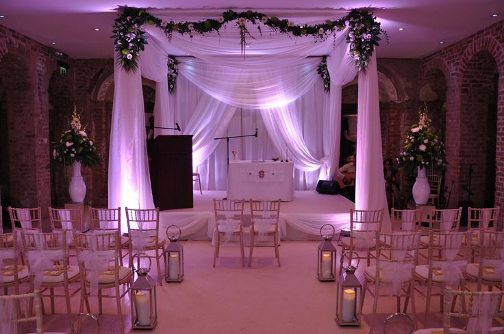 An Indian wedding ceremony chuppah / canopy. Visit www.gotchacovered.ie for more