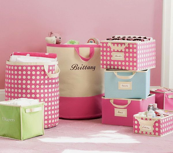 Коробки для игрушек из ткани