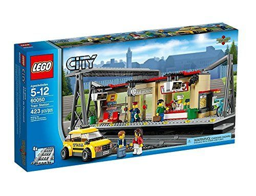LEGO CITY Train Station Building with Taxi and Rail Track Pieces  60050