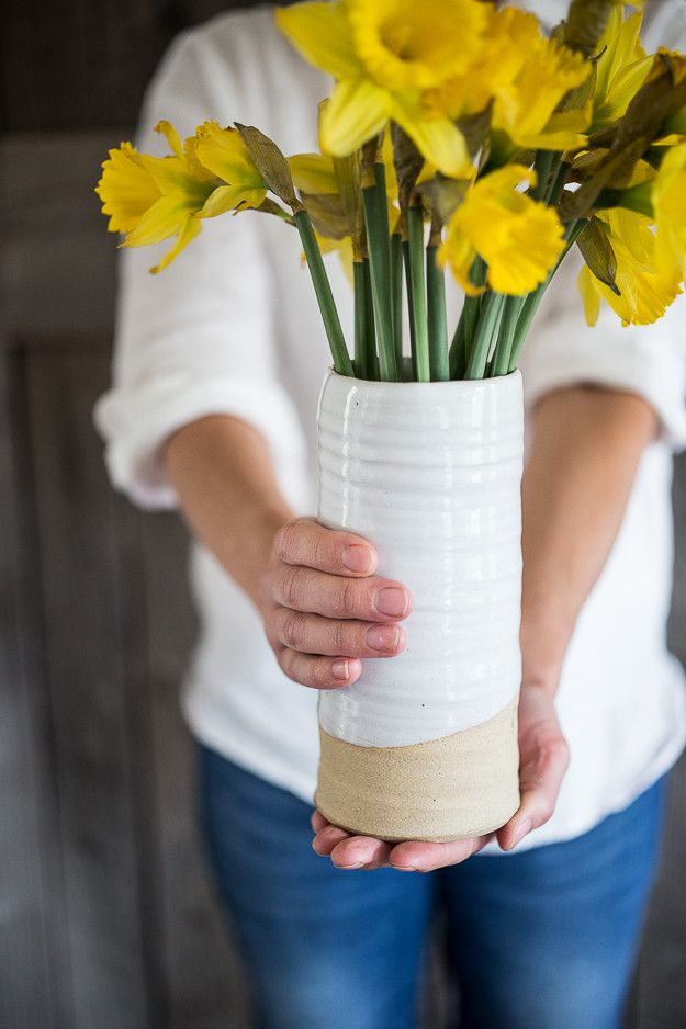 Farmhouse Pottery Trunk Vase | www.bowlandpitcher.com