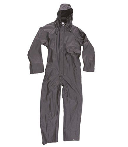 Cheap Blue Castle Flex PU Tricot Fabric Stretchable Coveralls Waterproof Overalls Work Fish Boat Sail deals week