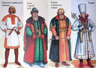 Traditional Russian Men costumes before 1700