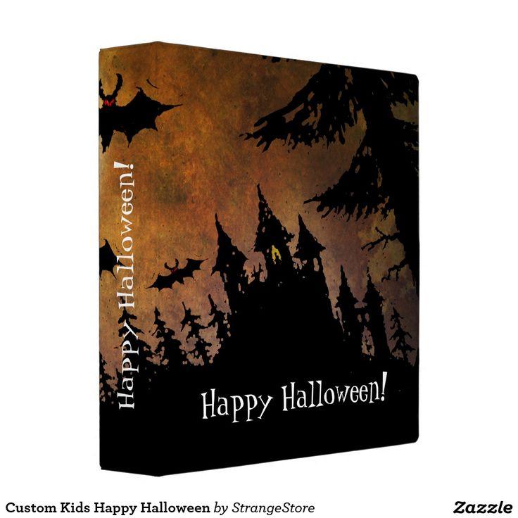 Custom Kids Happy Halloween Vinyl Binders