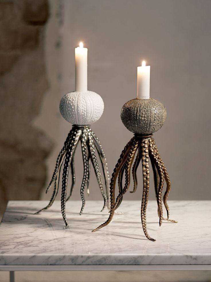 Köp Le octopussy candleholder online. Unik ljusstake som föreställer en bläckfisk. Material: Porslin&Metall Finns i två olika färgställningar.