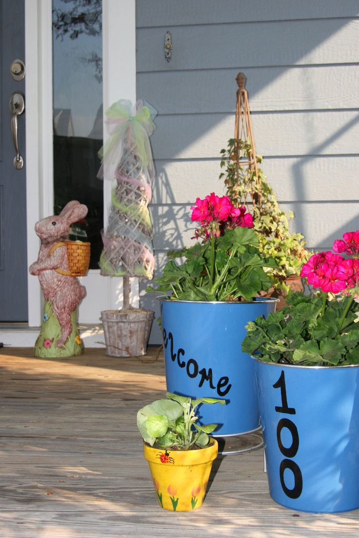 Religious easter yard decorations - 45 Front Easter Porch Decoration Inspirations