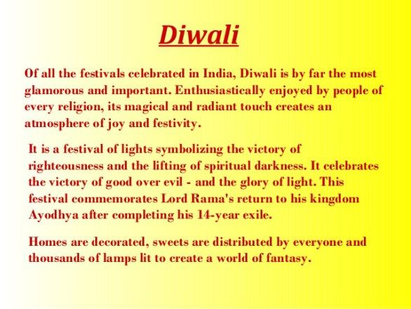 Diwali write up in english