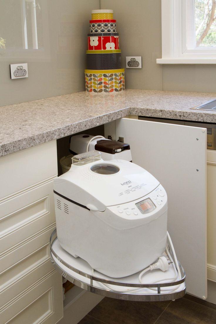 Traditional kitchen. Hafele corner solution. www.thekitchendesigncentre.com.au