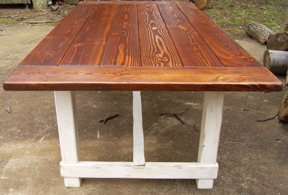 Harford trestle dining table farmhouse reclaimed wood for Reclaimed wood dc