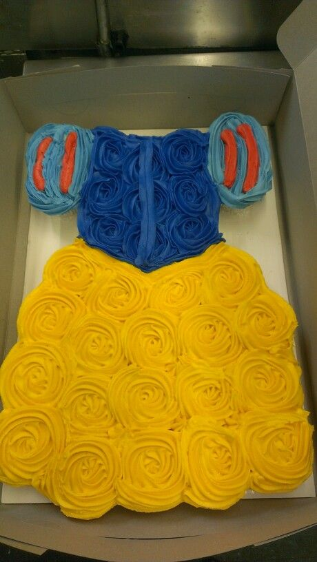 Snow White Dress Cupcake Cake