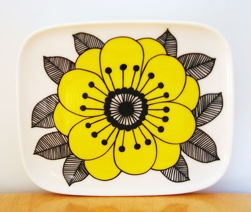 Marimekko Kestit Square Plate 12x15cm by Maija Louekari | eBay #ceramics