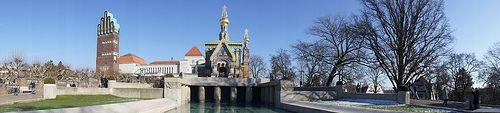 Darmstadt Mathildenhöhe panorama