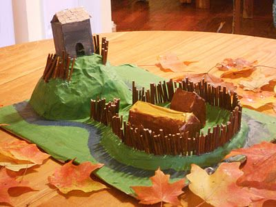 The Five of Us: Paper Mache Motte and Bailey
