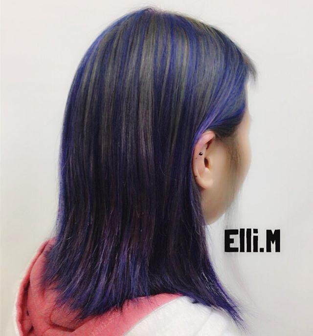 WEBSTA @ ellixxxxxxx - #manicpanic #マニパニ#マニックパニック#ヘアカラー#bluehair #アッシュ#シルバーアッシュ#アッシュグレー#派手#派手髪#spiceheads知立#ellimatsuyama #知立美容室#hairstyles#hairdye#髪型#髪色#美容室#silverhair #metallic#美容師#dyehard#ミディアムヘア