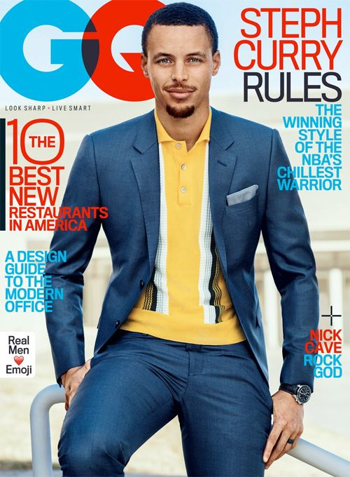 Steph Curry Gets Dapper For GQ Magazine & Ayesha Can't Help But Stan For Her Man