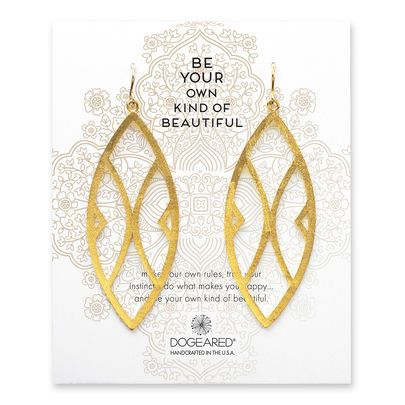 be your own kind of beautiful aztec earrings, gold dipped - Dogeared