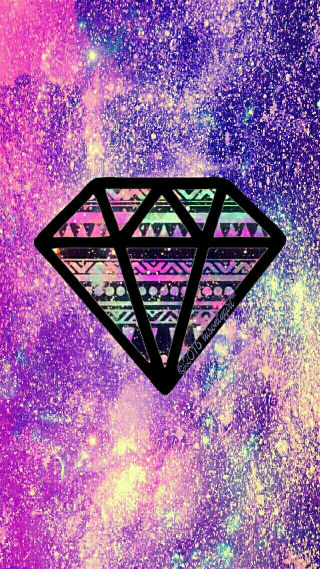 Tribal diamond glitter galaxy iPhone/Android wallpaper I created for the app CocoPPa!