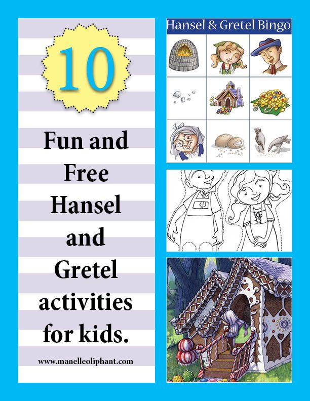 10 free Hansel and Gretel Activities #party