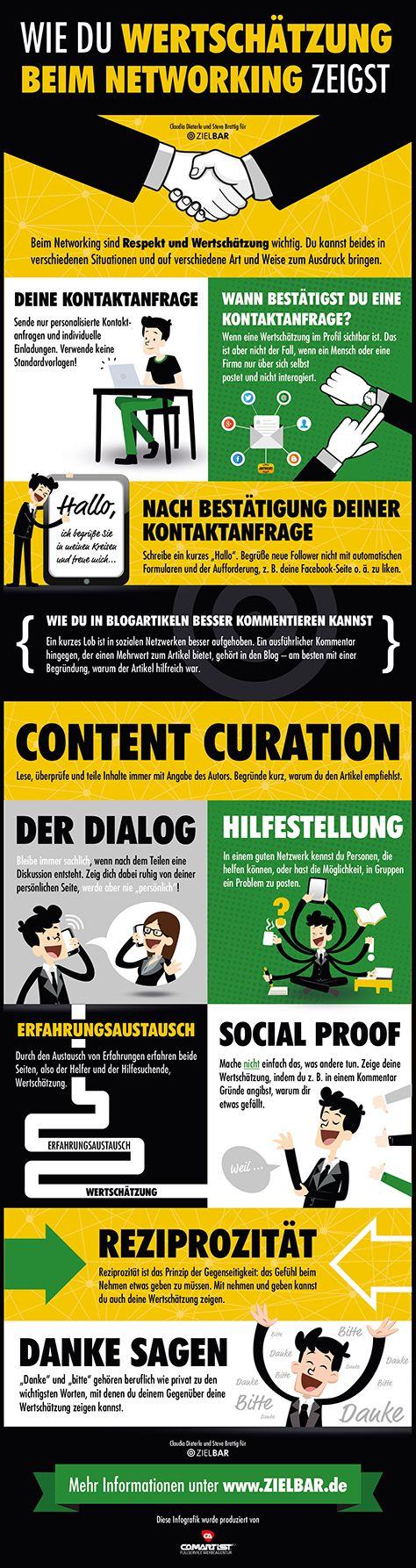 Infografik: Wie du Wertschätzung beim Networking zeigst. Gefunden beim #ccb15