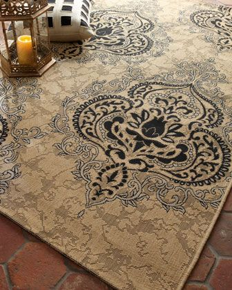 Outdoor Damask Rug by Safavieh at Horchow. http://pinterest.com/angdss/horchow-board-game/