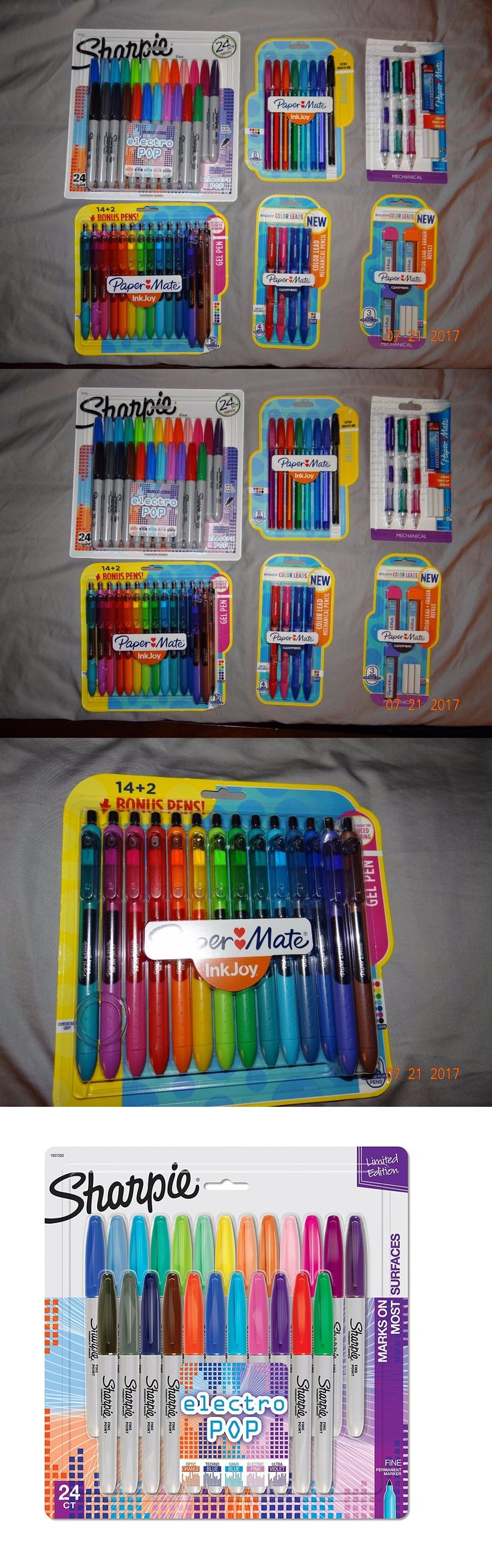 Other School Supplies 3142: Paper Mate And Sharpie - Gel Pens, Mechanical Pencils, Colored Lead Etc- All New -> BUY IT NOW ONLY: $50 on eBay!