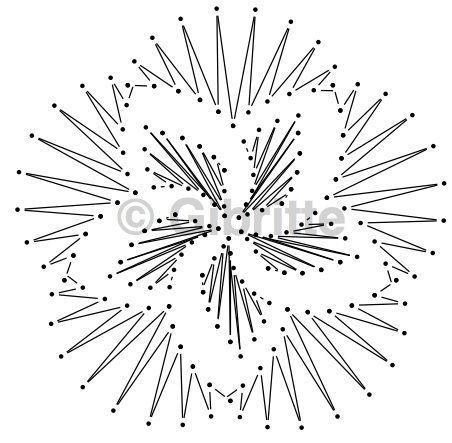 C'est en voyant un tout petit napperon au crochet, que cette idée m'est venue. Il suffit de passer un fil au coeur du napperon puis de serrer et voilà un volume qui se créait (plus le fil est loin du centre, plus la fleur aura de volume). On peut varier...