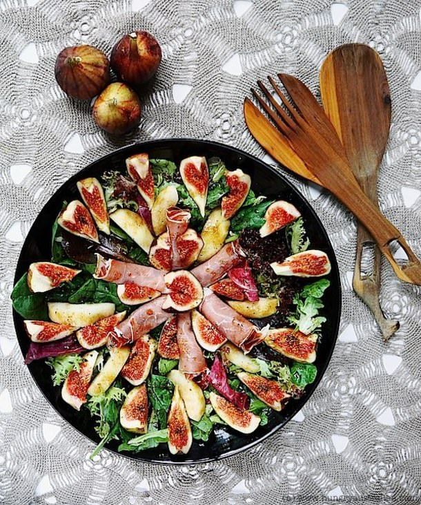 Fig, Prosciutto & Pear Salad - perfect for when my fig tree fruits!