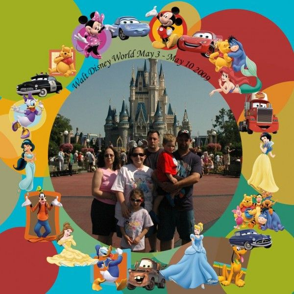 use up all of those random stickers in your disney photo album #scrapbooking