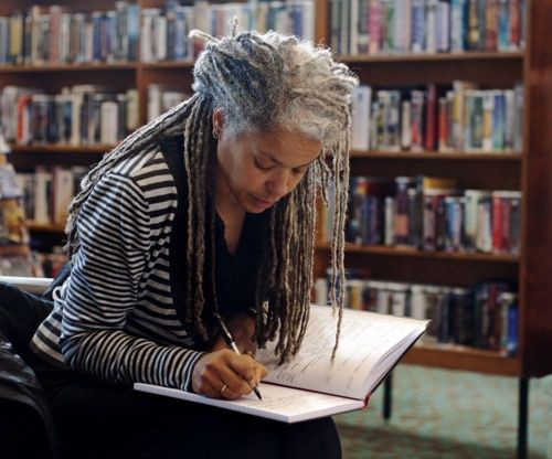 Salt 'n pepper #locs. Age never looked so beautiful and wise.