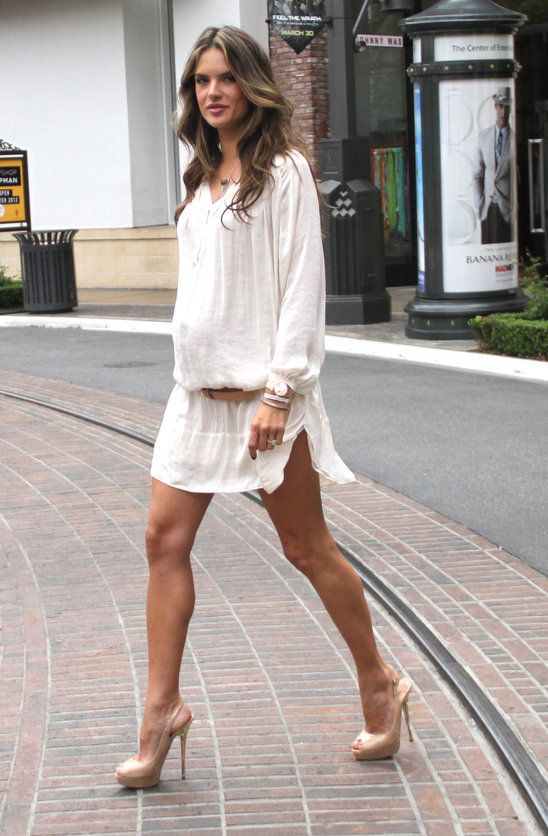 Alessandra Ambrosio   cutest pregnant woman ever! Love her and babies