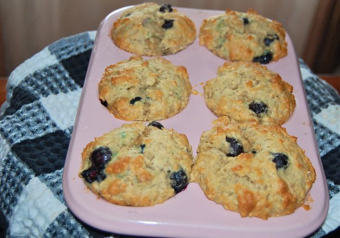 "So yummy!! Blueberry ""Power"" Muffins with Greek Yogurt and Honey - FoodieRobots"